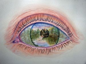 AN ARTIST'S EYE -  14 X 10 inches $175