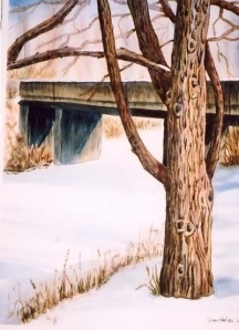 BEAR CREEK BRIDGE 10 X 14 inches SOLD