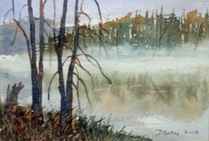 CLOSE TO HOME - STUDY 7 X 4.5 inches $50