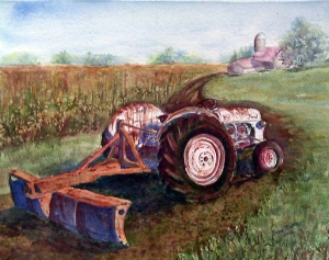 OLD FORM 8N TRACTOR - 14 X 10 inches $200