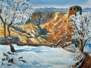 GRAND CANYON'S WATCHTOWER VIEW 19 X 15 $300