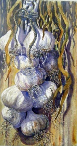 HOMEGROWN GARLIC  - 13 X 22 inches  $425