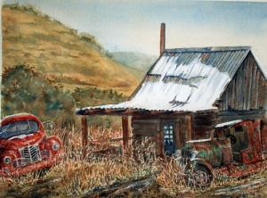JEROME GHOST TOWN 14 X 10 inches $225