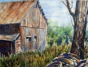 LAMBTON COUNTY BARN 15 X 13 inches $275