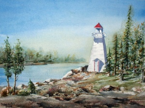 MANITOULIN LIGHTHOUSE 14 X 10 inches $175