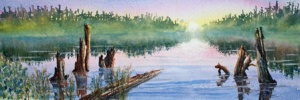 MORNING MIST 16 X 6 inches $100