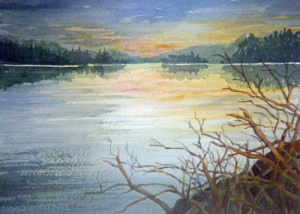 PEACEFUL EVENING - 14 X 10 inches $150