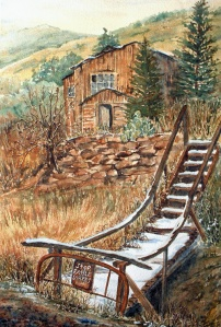 RATTLESNAKE HAVEN 15 X 19 inches $250