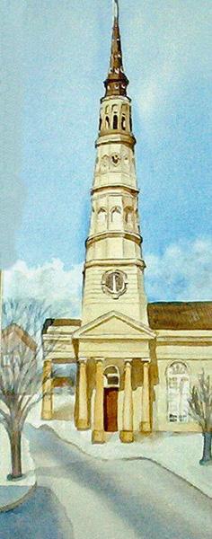 SOUTH CAROLINA CHURCH 7 X 16 inches $100