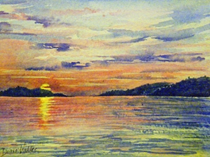 SUNSET ON SUPERIOR 8 X 6 inches $50
