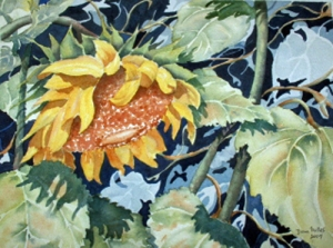 TANGLED SUNFLOWER 14 X 10 inches $175