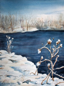 TEASELS IN THE SHOW 10 X 14 inches $165