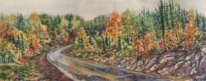 THE LONG ROAD HOME 10.5 X 26 inches $400