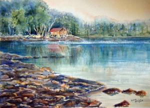 VIEW FROM PAINT LAKE ROAD 19 X 15 inches $400