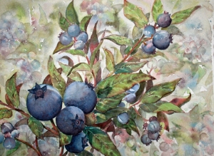 WILD BLUEBERRY PATCH -  14 X 10 inches    $200